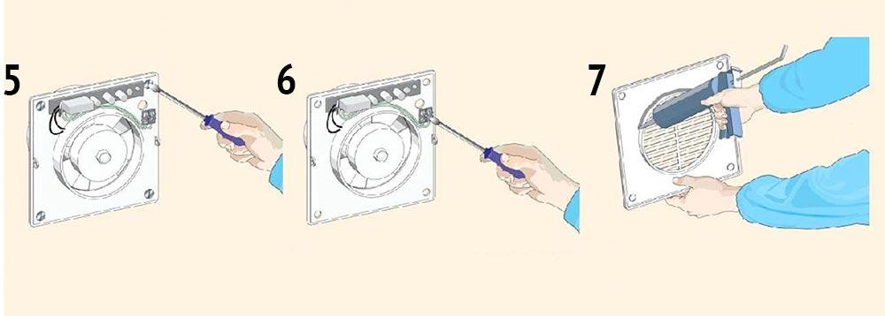 подключение вентилятора со стороны комнаты
