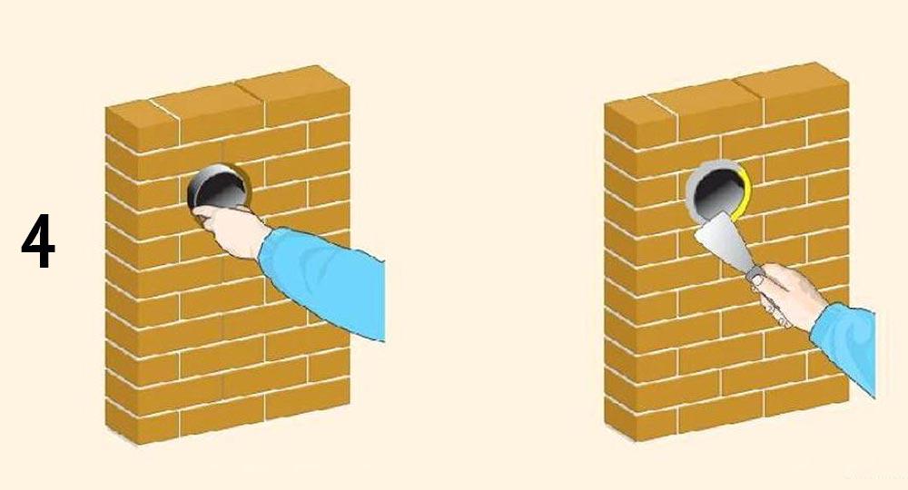 устанавливаем трубу вентиляции
